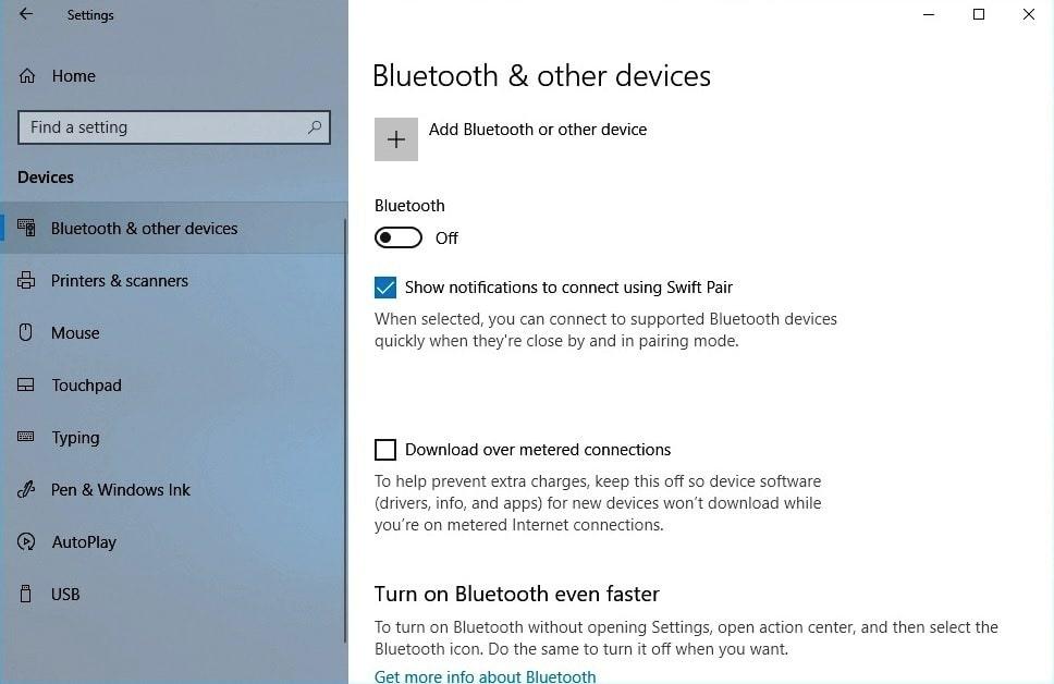 Đảm bảo Bluetooth được bật