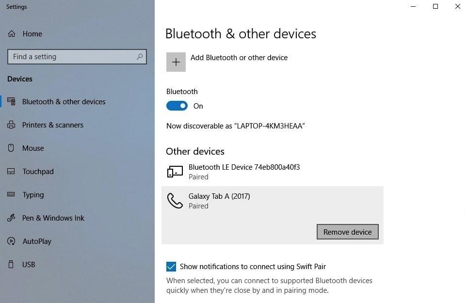 Kiểm tra thiết bị Bluetooth của bạn